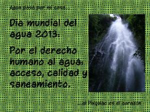dia mundial del agua 2013